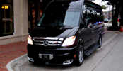 Executive Mercedes Sprinter Van 12 and 15 passengers is available for rent at our Florida Home.